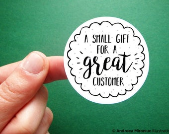 Customer Gift Packaging Stickers, Stickers for Etsy Sellers, Order Gifts Stickers, Gifts for Customers, Etsy Packaging Stickers