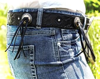 Custom Leather Western Belt - The El Derado Basic Design