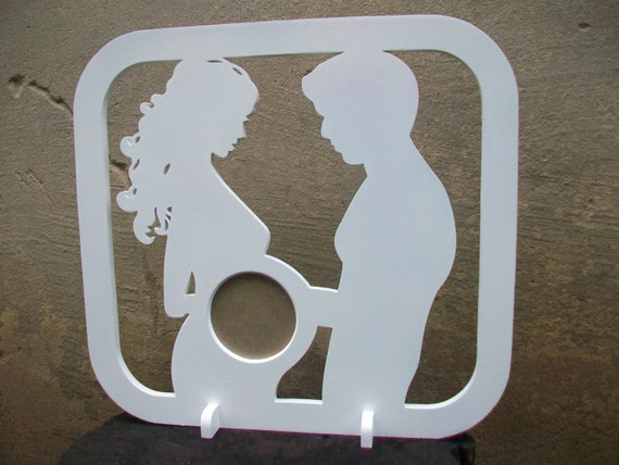 First Photo Ultrasound Sonogram Wood Picture FRAME Silhouette Baby ...
