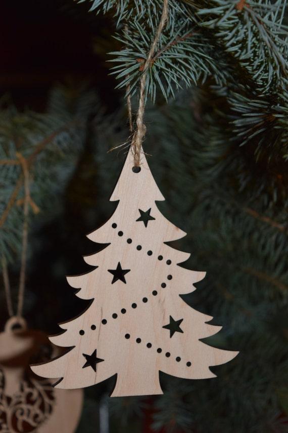 Set von 5 Holz Weihnachtsbaum Spielzeug Sperrholz Formen   Etsy