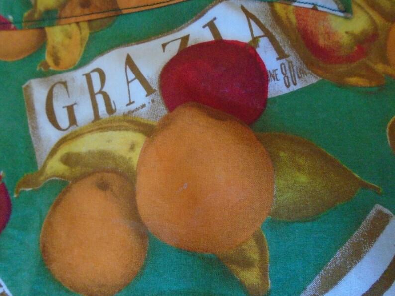 Fruit design Italian wording Graphics half pinny