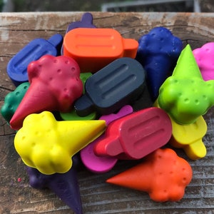Food Crayons  Burger Crayon  Pizza Crayons  Pizza Party Favor  Kids Party Favor Bags  Summer Party  Summer Crayons