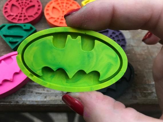 Superhero Party  Superhero Crayons  Superhero Crayon Boxes  Superhero Gifts  FE Gift Ideas  Superhero Crayons  Batman Spiderman