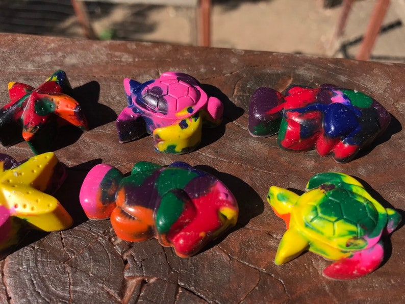 Under the Sea Stocking Stuffer  Turtle Stocking Stuffer  Christmas Crayons  Cool Christmas Idea  Non Candy Stuffer  Christmas Gift