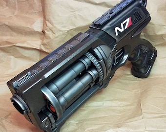 """Mass Effect Inspired N7 """"Night Flying Rodent"""" Modified Nerf Maverick Steampunk Cosplay LARP Birthday Gift Fallout Pirate SciFi"""