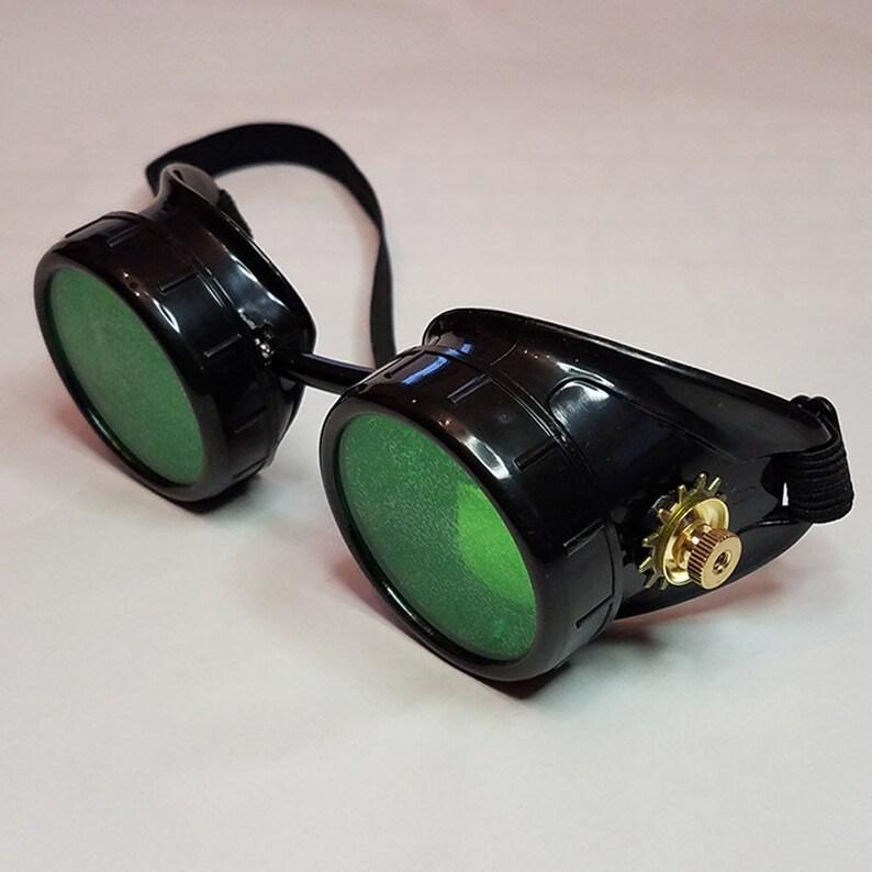 ab557dcb09f Steampunk Goggles Victorian Glasses Biker Cosplay SciFi Cyber