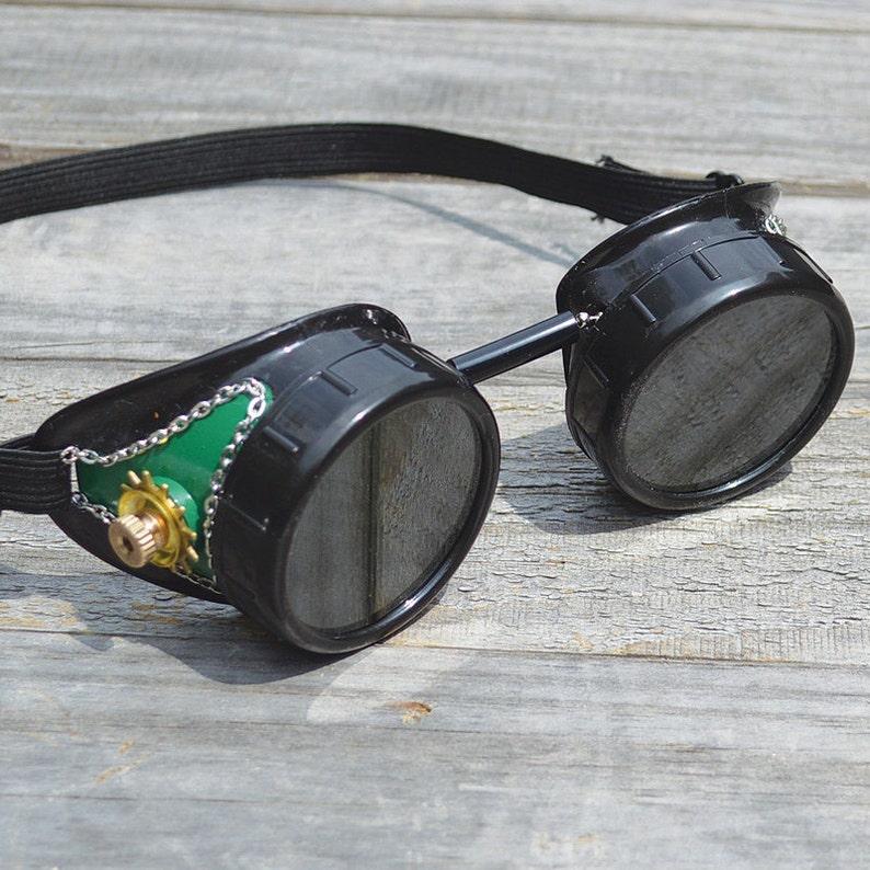 Steampunk Steampunk Brille Steampunk Brille Grüne Brille Etsy