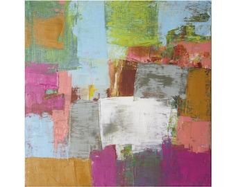 Bright Abstract Art modern original oil painting contemporary art Paul Ashby