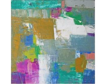 Bright Abstract Art modern original oil painting contemporary art