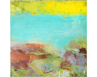 original abstract landscape seascape coastal painting modern Dallas artist ready to hang contemporary art Cottage Chic beach