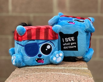 Peeper Tom the plush pirate kitty by Squaredy Cats