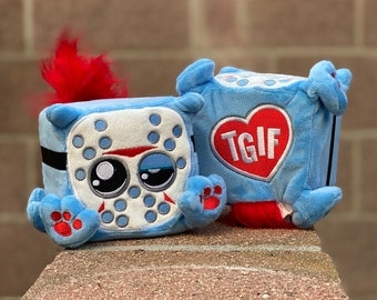 Friday the cute plush slasher kitty by Squaredy Cats. Thank Gato it's Friday!
