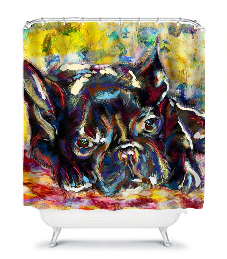 French Bulldog Shower Curtain Bed And Bath Decor Bathroom