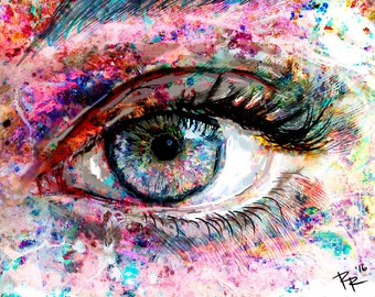 Eye Artwork, Eye Art Print, Eyes painting