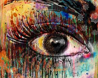 Eye Painting, Original Art, Womans Eye