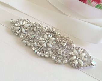 Bridal Sash, Bridal Belt, Wedding Sash, Bridesmaid Belt, Flower Girl Sash, Flower Girl Belt, Wedding Dress Sash, Wedding Dress Belt 59