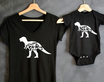 Mommysaurus Rex + Daddysaurus Rex + Babysaurus Rex T-shirt Package, Baby Announcement, Baby shower gift, Mama Bear, Dinosaur Shirts, T-Rex