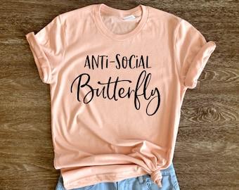 a43f4b85d764 Anti-Social Butterfly Shirt