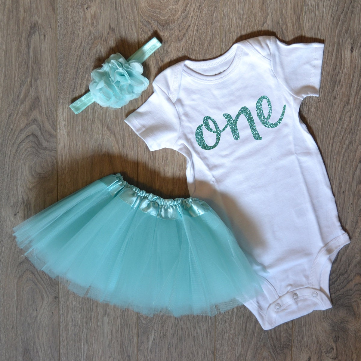 1st Birthday Outfit With Tutu And Headband Tulle Skirt