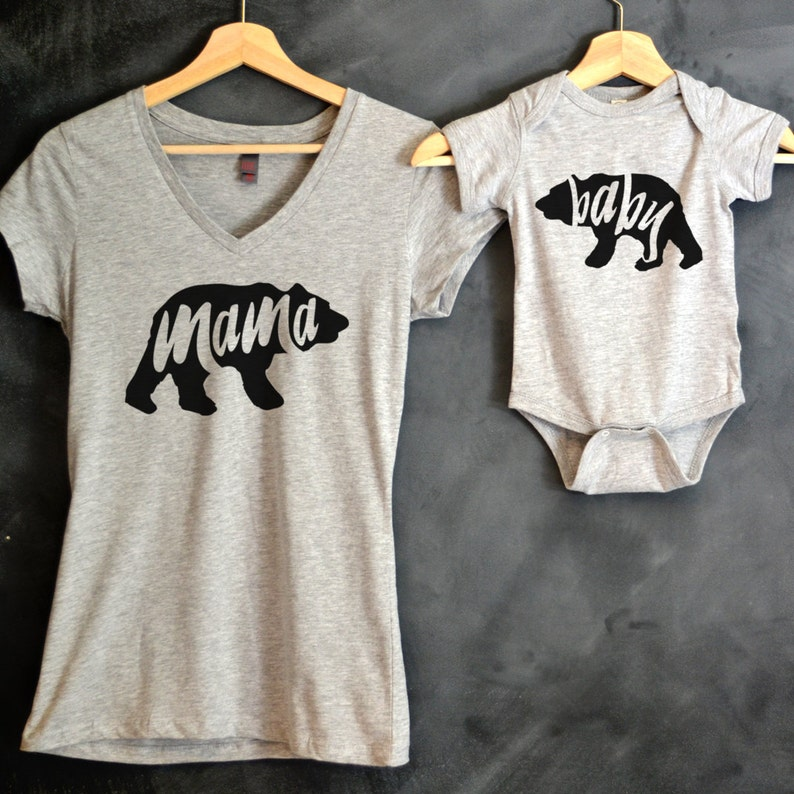 99f766ca0f2 Mama Bear Baby Bear T-shirt Package Mama Bear V-Neck