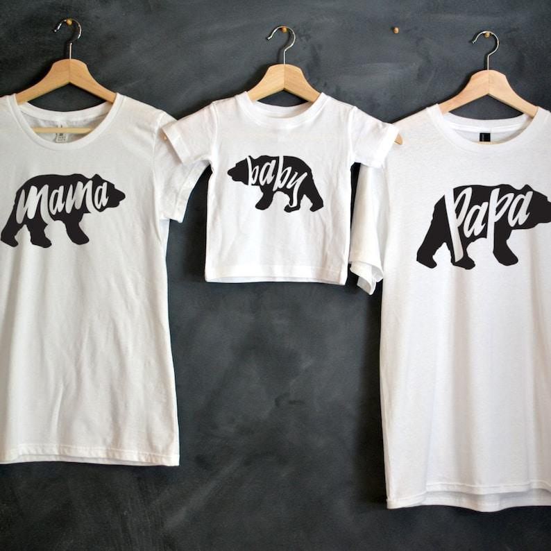 8d02e10a854 Papa Bear Mama Bear Baby Bear T-shirt Package Mama Bear