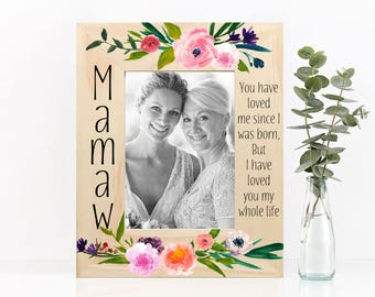 Frame Gift for Her, Floral Colorful Picture Frame Gift for Christmas or Birthday Etc Gift for Grandma Mom Friend (Item - FLF210)