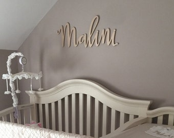 Nursery Name Sign for Baby Bedroom Wall Decor Wooden Letters Kids Baby Room Personalized Hanging Name Baby Shower Gift (Item - NNS500)