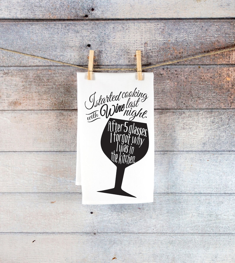 Funny Kitchen Tea Towel Gift For Wine Lover Funny Tea Towel Kitchen Decor Holiday Christmas Gift Ideas For Him Or Her Item Twi500