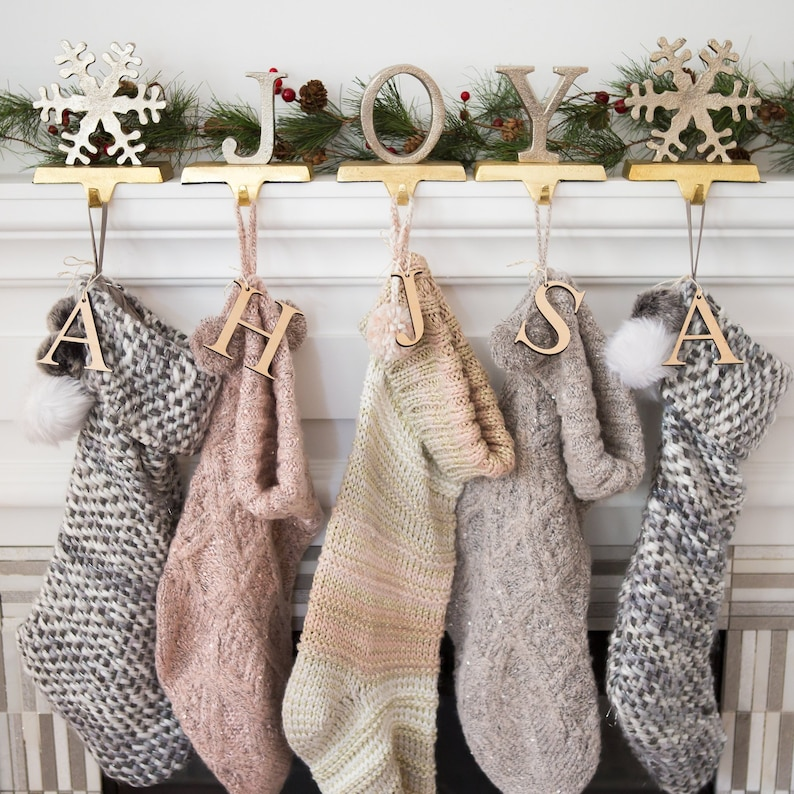 Letter Christmas Stockings.Wooden Letter For Stocking Christmas Stockings Letter Cutout Kids Family Personalized Stocking Decor For Holidays Item Stw200