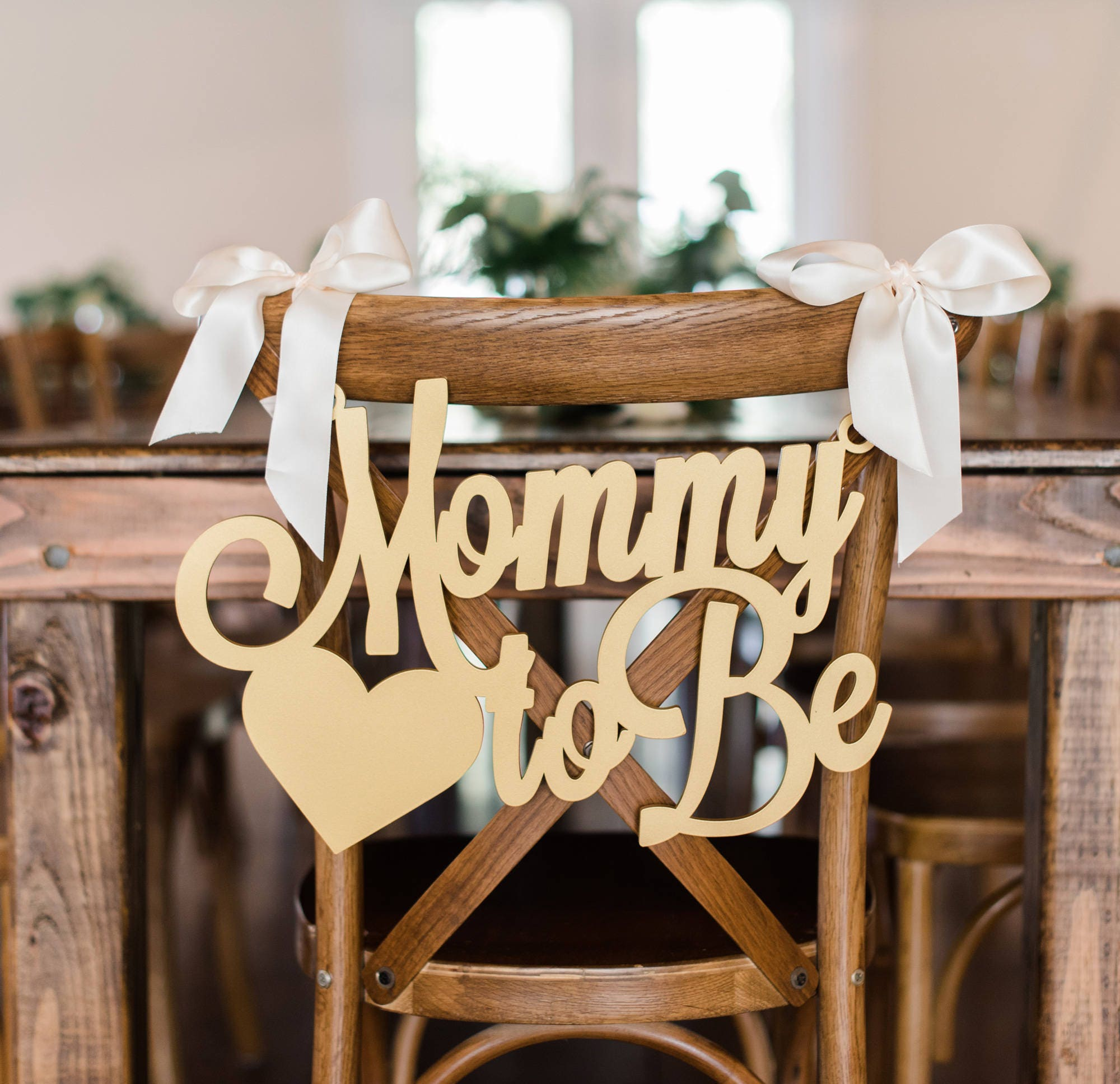 Baby Shower Chair Sign Mommy To Be Wooden Cutout For Baby Etsy