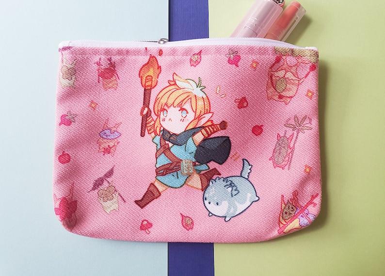 The Legend of Zelda Breath of the Wild zipper pen bag makeup bag pencil case