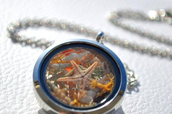 Plata Medallón mar tormentoso océano mar olas Medallón Collar De Navidad Cumpleaños 357