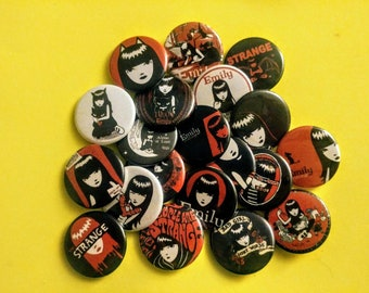 Emily the Strange ϟ 1.25 inch pinback buttons