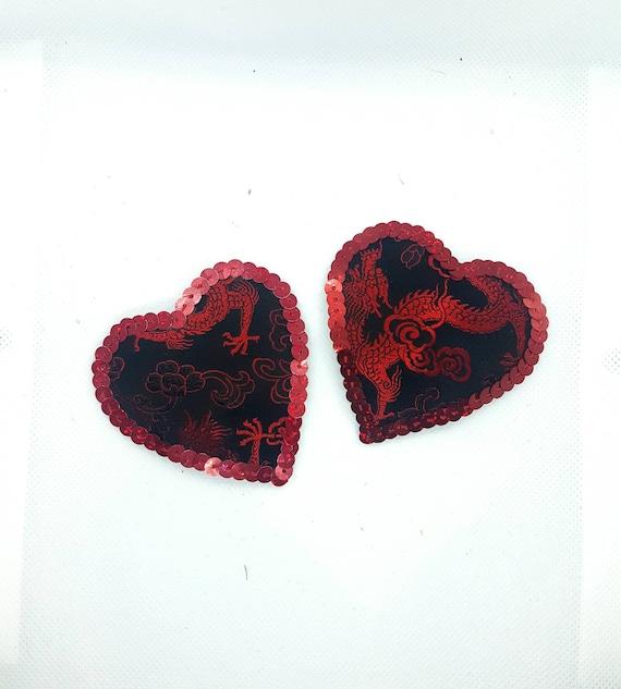 1 Pair Sequin Tassel Nipple Breast Covers Heart Shape Pasties Sticker Burlesque