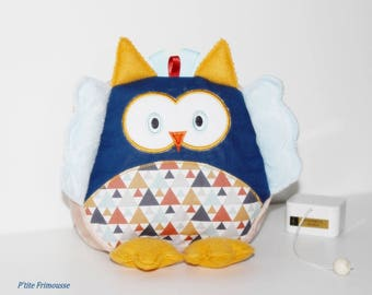 Musical pillow toy OWL or owls.