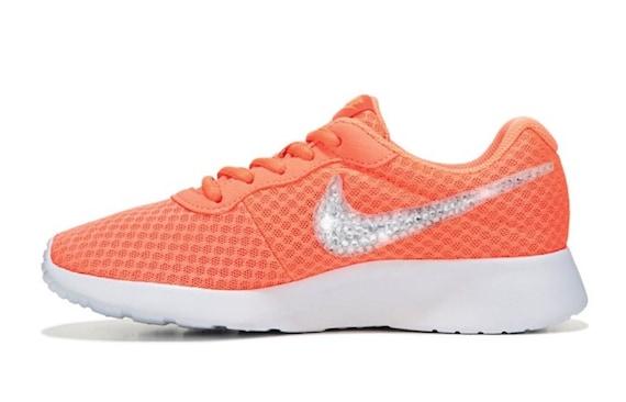 promo code b865c d40de where to buy nike tanjun swarovski bling shoe orange etsy 1daa9 995f8