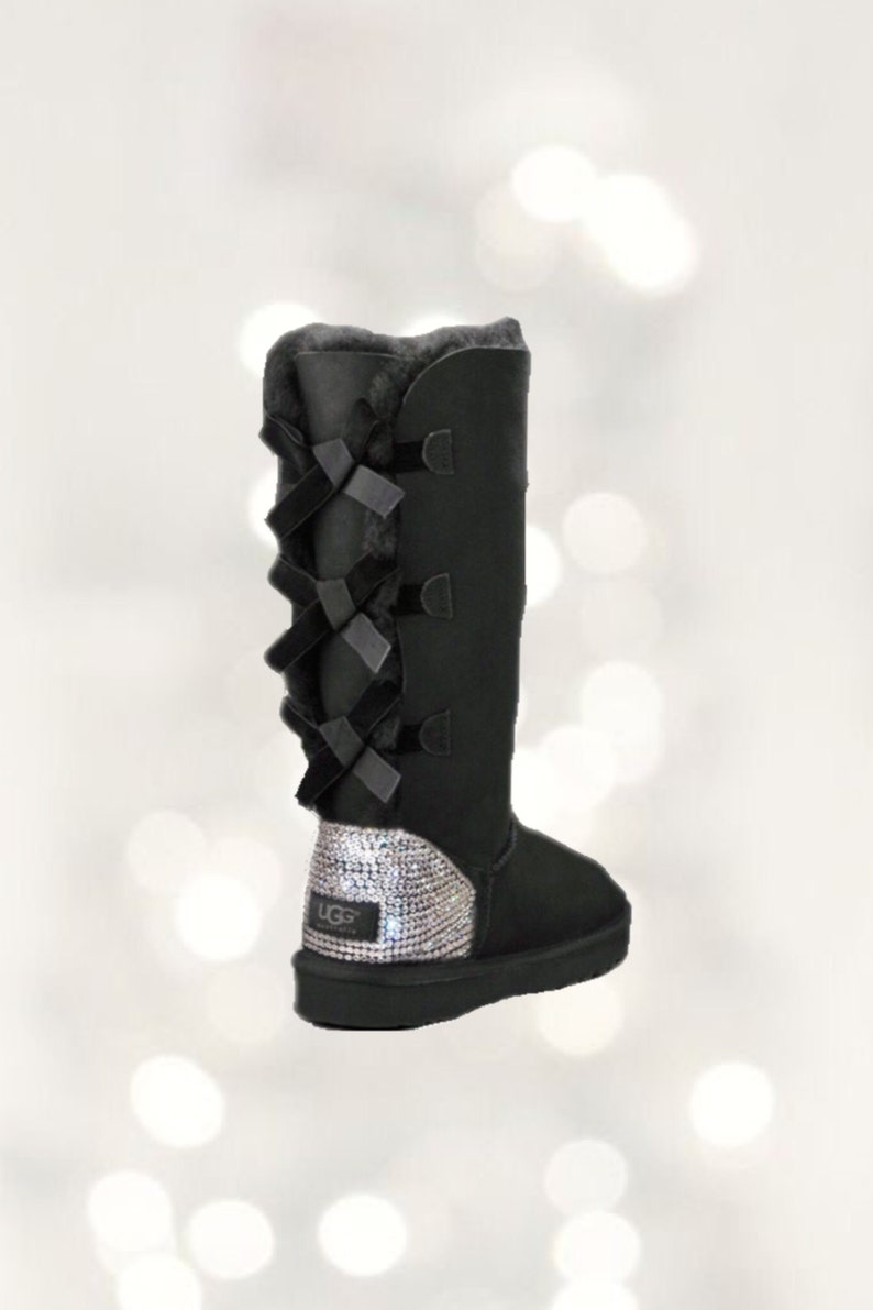 5721cb64d67 UGG Bailey Bow Swarovski Bling Tall Boot - Black