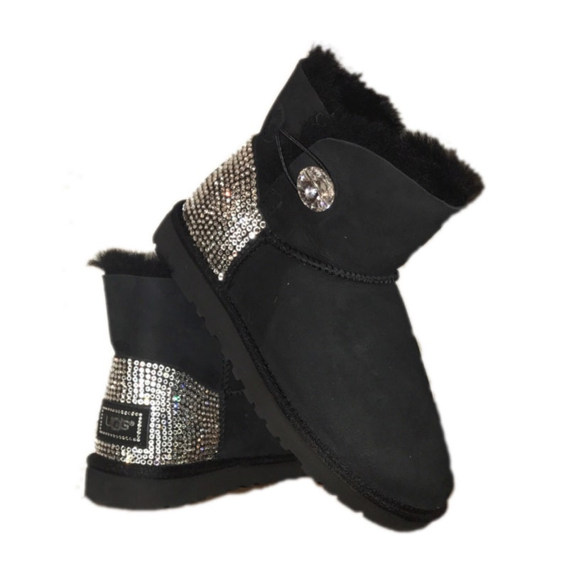 a4a03acf0b4 UGG Bailey BlingButton Swarovski Mini Boot - Black