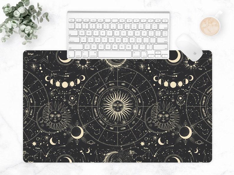 Celestial Extra Large Desk Mat Keyboard Mat Astrology image 1