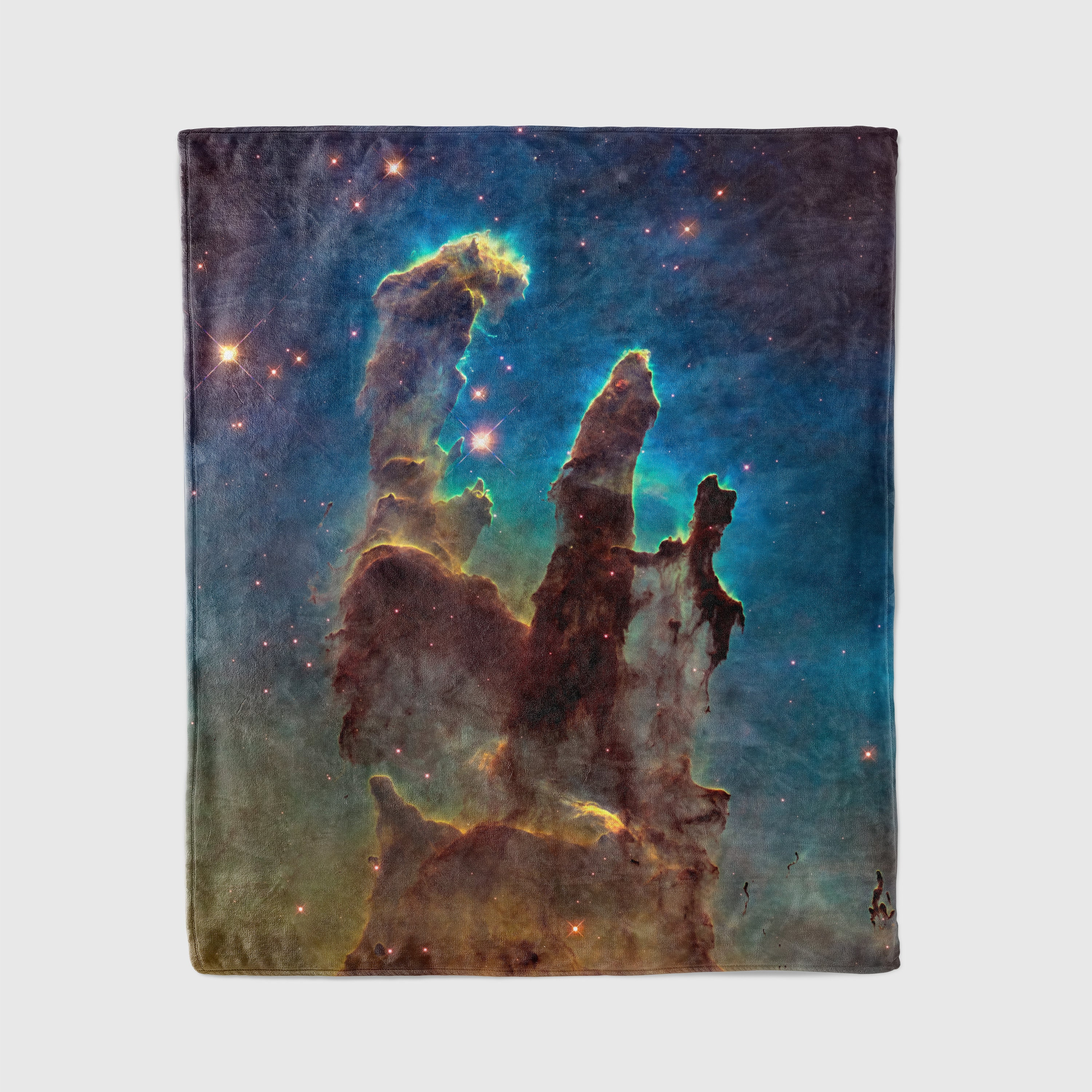 Pillars of creation throw blanket outer space decor home for Outer space decor