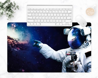Galaxy Astronaut, Extra Large Desk Mat, Space Desk, Astronomy, Space Office, Large Gaming Mat, Tech Accessories, Multi-Size