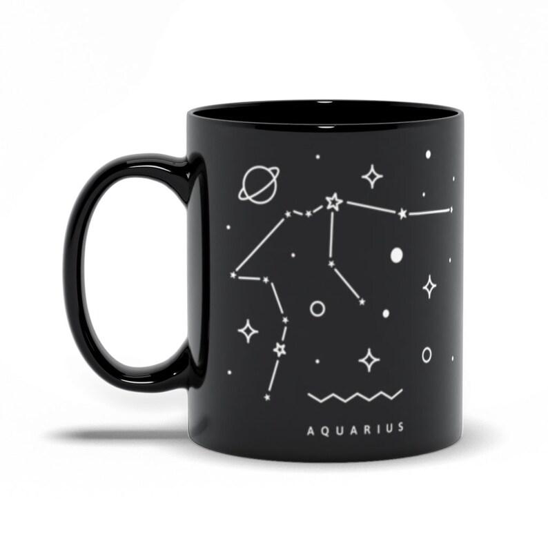 Aquarius Constellation Mug Astrological Sign Mug Aquarius 11 Fluid ounces