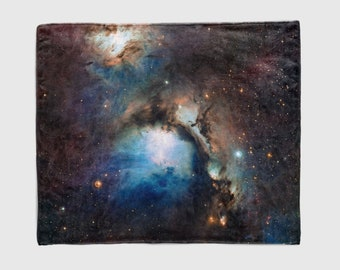 Nebula Throw Blanket, Outer Space Decor, Home Decor, Reflection Nebula in Orion