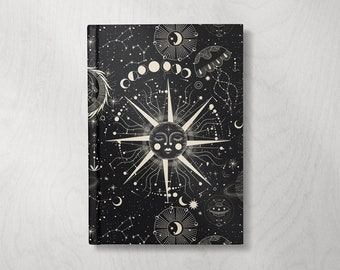 Astrology Notebook | Astrology Journal | Hardcover Journal | Hardcover Notebook | Celestial | Lined Notebook | Lined pages