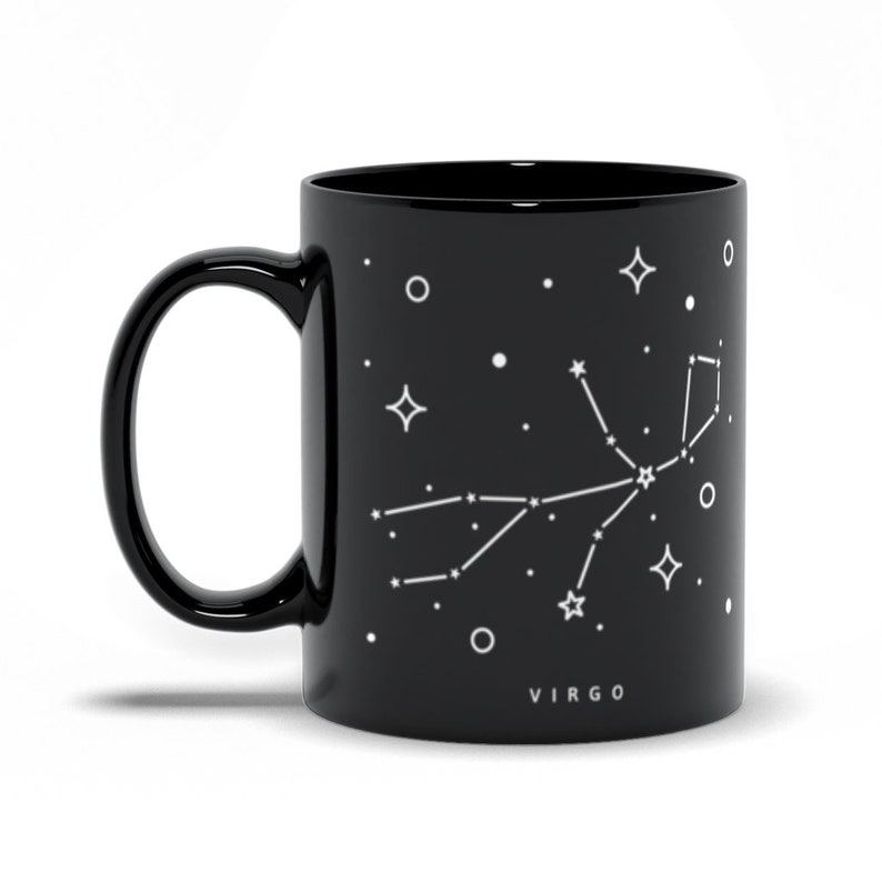 Virgo Constellation Mug Astrological Sign Mug Virgo Gift 11 Fluid ounces