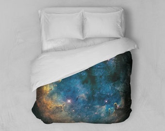 Duvet Cover, Nebula Bedding Cover, Outer Space Bedroom Decor, Home Decor, Boomerang Nebula, King, Queen, Full