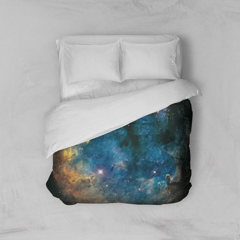Duvet Cover Nebula Bedding Cover Outer Space Bedroom Decor image 0