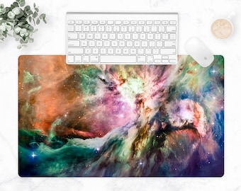 Galaxy Space, Extra Large Desk Mat, Galaxy Workspace, Outer Space, Galaxy Desk, Tech Accessories, Gaming Desk Pad, Multi-Size