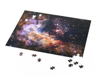Star Puzzle | Galaxy Puzzle | Celestial Fireworks NASA Print | Jigsaw Puzzles For Adults Kids | 120, 252, 500 Piece Puzzle | Astronomy Gifts