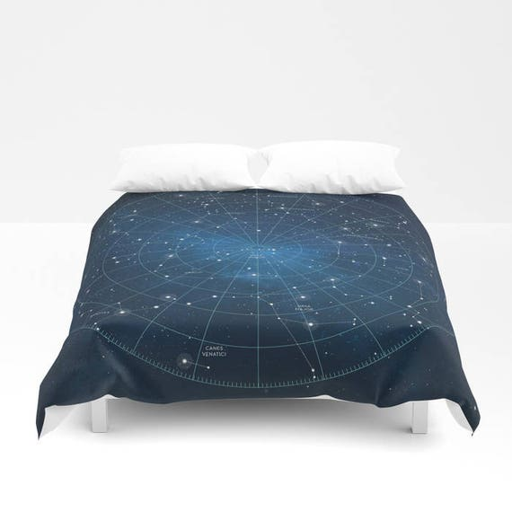 housse de couette constellation carte toile astronomie. Black Bedroom Furniture Sets. Home Design Ideas